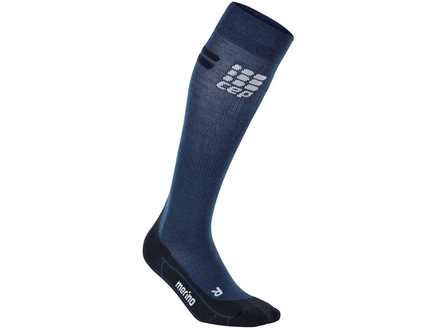 cep Run Merino Socks Damen navy/black
